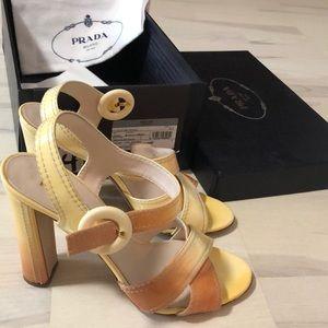 PRADA Heels Sandals Shoes Vintage Look 39.5